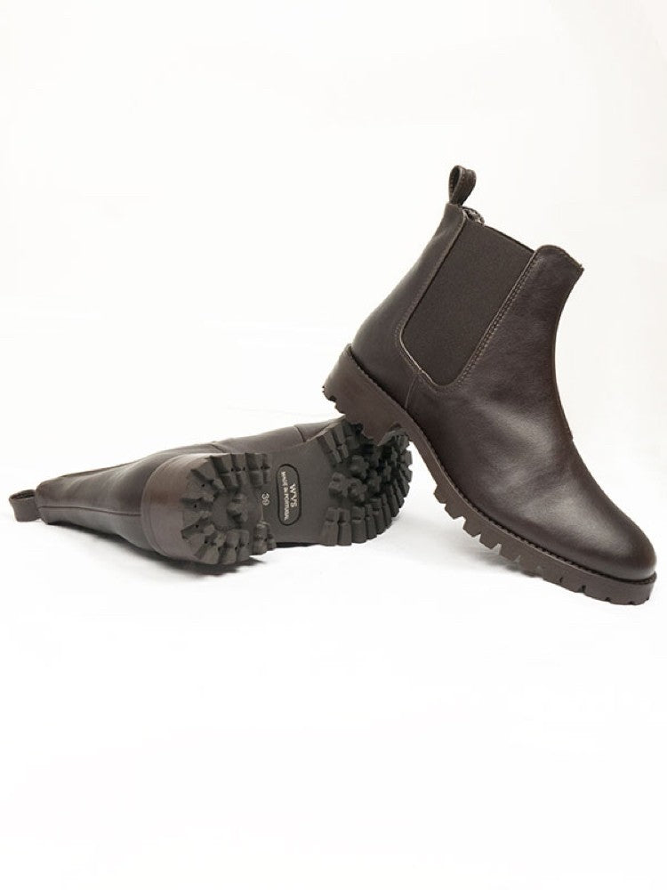 Will's Vegan Deep Tread Chelsea Boots Dark Brown