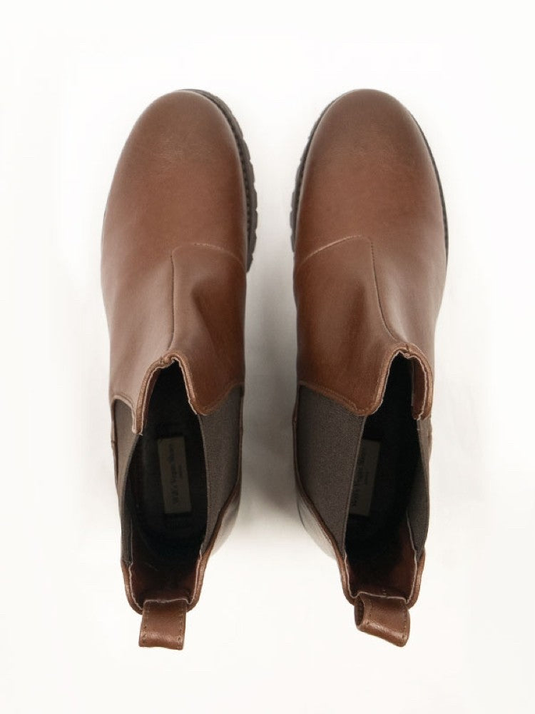 Will's Vegan Chelsea Boot Chestnut