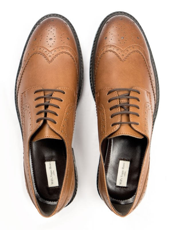 Will's Vegan Shoes Continental Brogues Tan