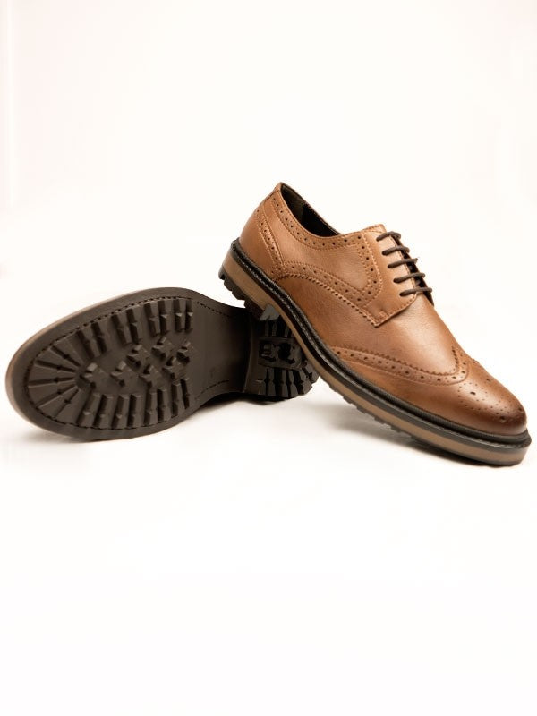 Will's Vegan Shoes Continental Brogues Tan - sale