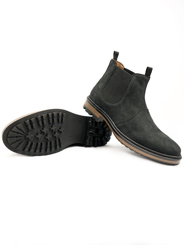 Wills Vegan black faux suede Chelsea boots