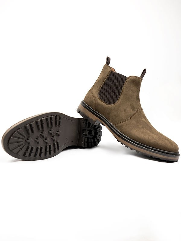 Will's vegan Continental Chelsea boots dark brown, vegan boots