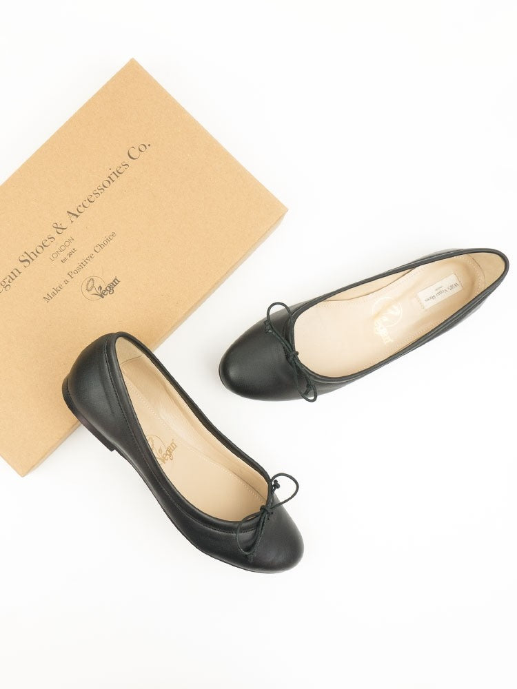 Will's Vegan Shoes Bow-tie Flats Black