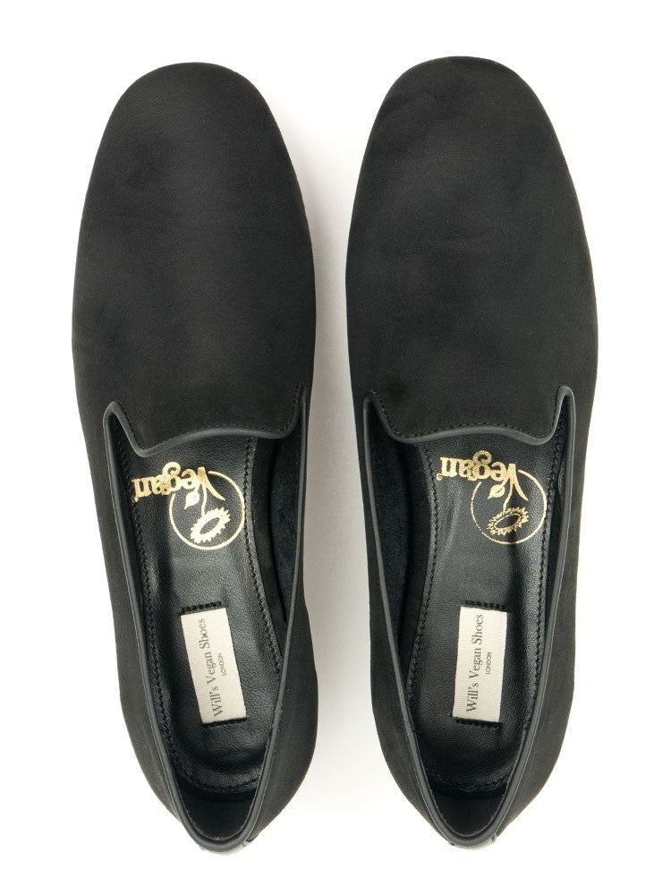 Will's vegan shoes slip on loafers black