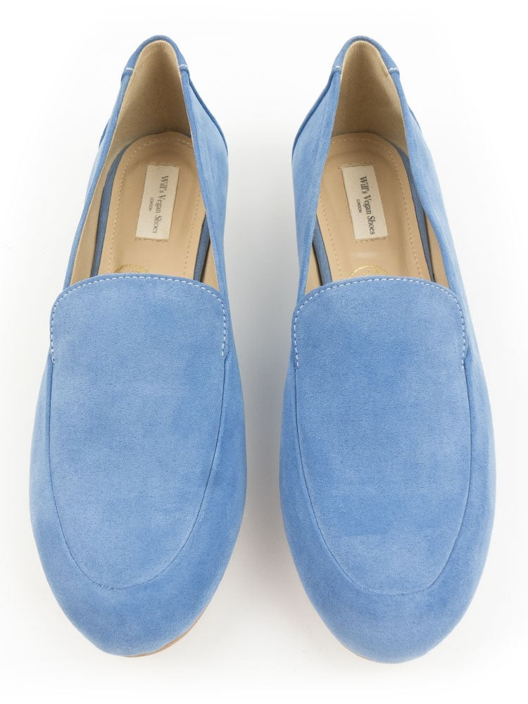 Will's vegan shoes loafers baby blue