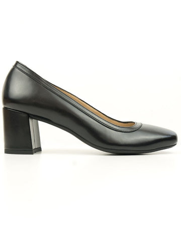 Will's vegan shoes block heels black