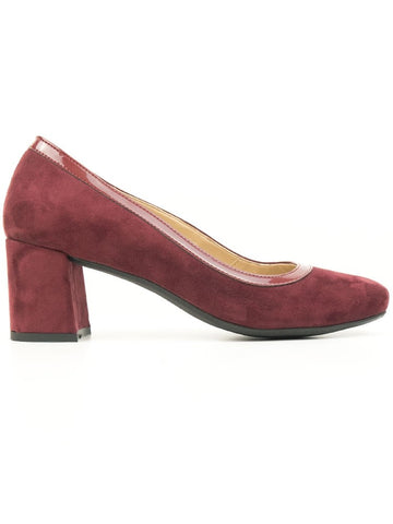 Will's Vegan Faux Suede Block Heels Wine