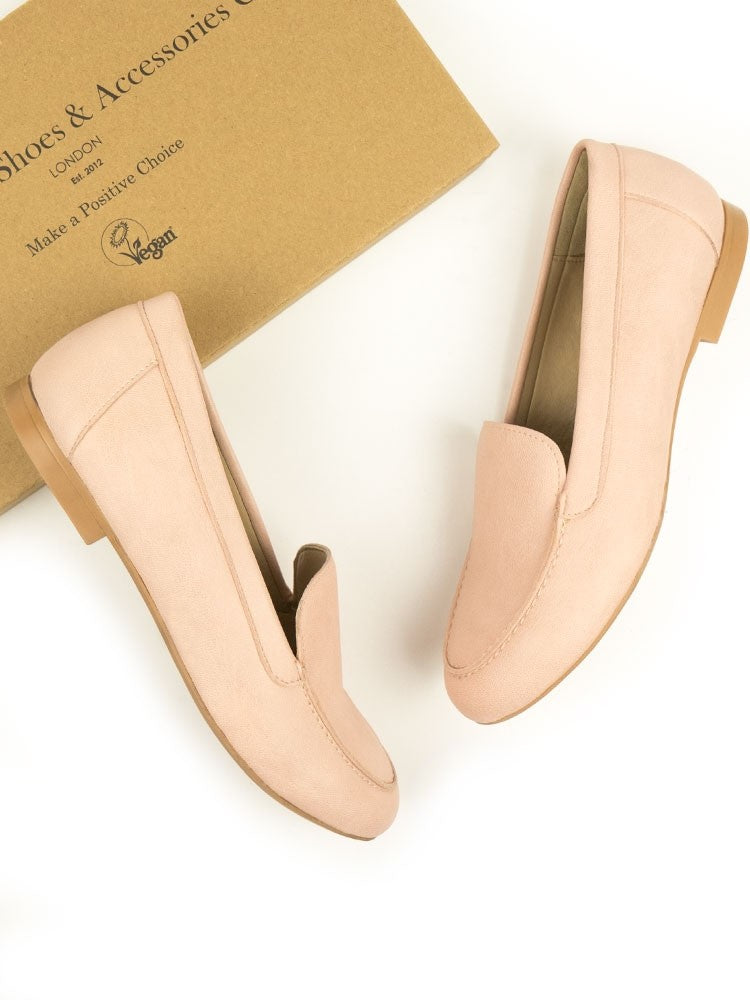 Will's vegan shoes loafers pale pink