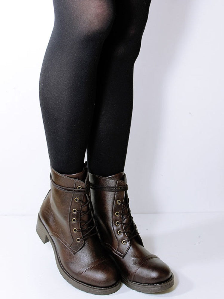 Will's Vegan Aviator Boots Dark Brown
