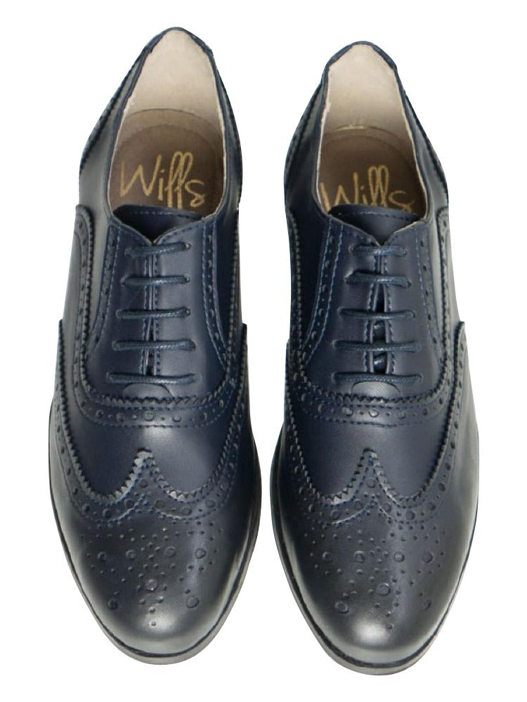 Will's Vegan Oxford Brogues Blue