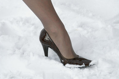 How to Walk in Heels During the Winter