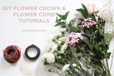 #WellHeeled Wednesday: Flower Crown & Comb DIY Tutorial [by Extra Petite Blogger Jean]