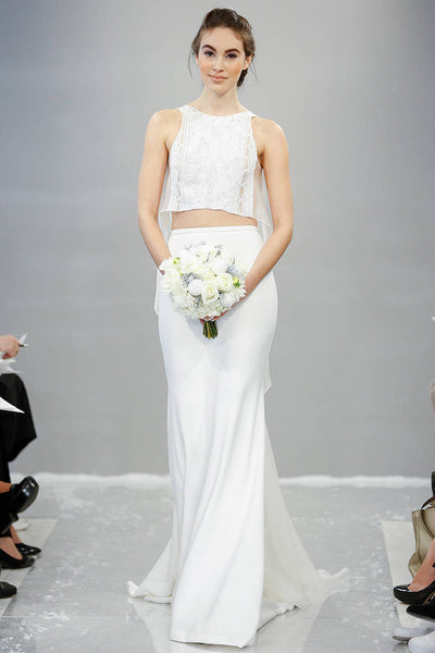 New Bridal Trend Alert: Slits and Crop Tops