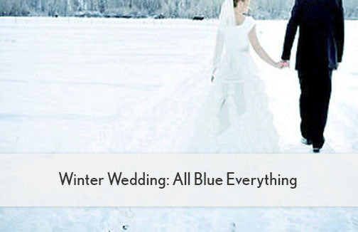 Winter Wedding: All Blue Everything