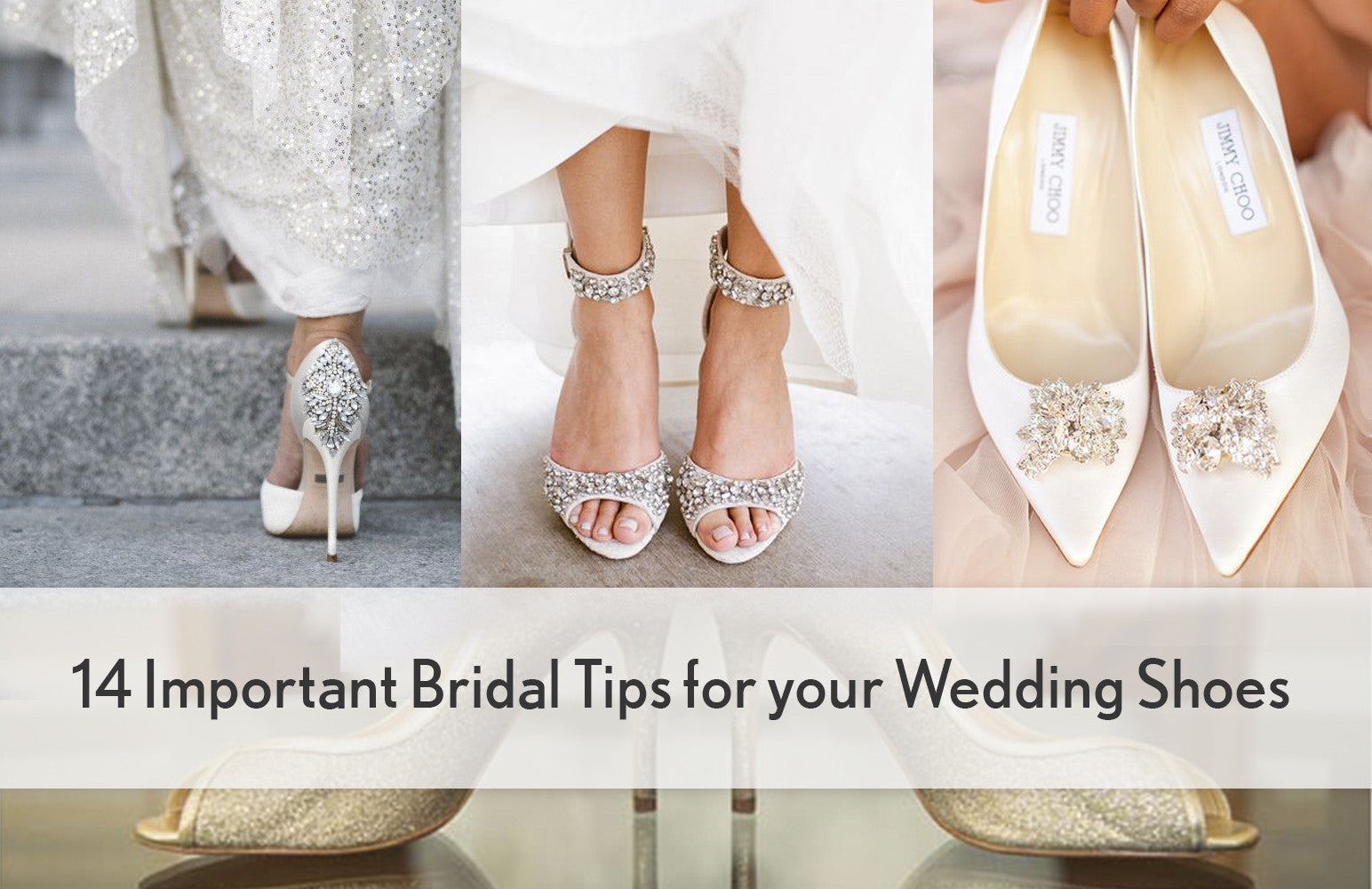 13 Important Bridal Tips for Your Wedding Shoes