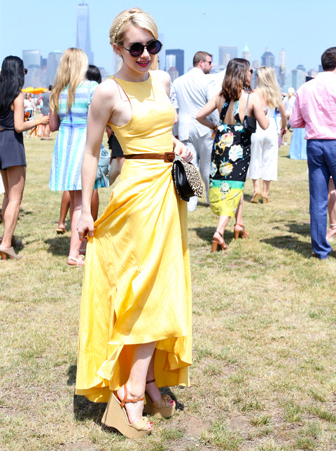 Emma Roberts at Veuve Clicquot Polo Classic