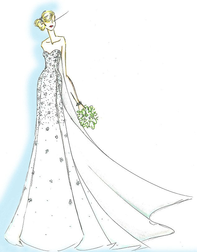 Frozen inspired dress sketch