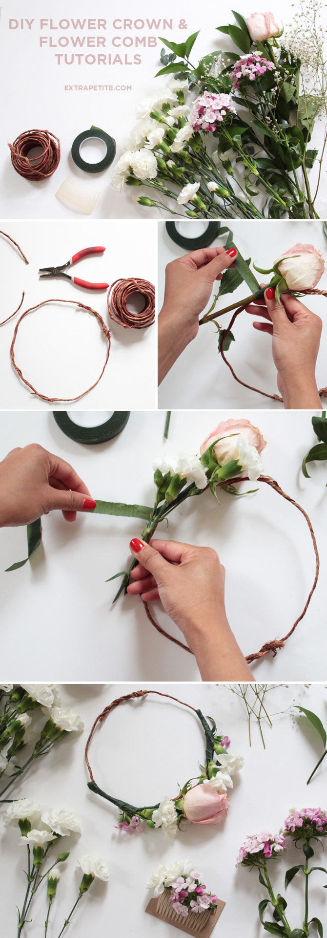 Wellheeled Wednesday Flower Crown Amp Comb Diy Tutorial By Extra