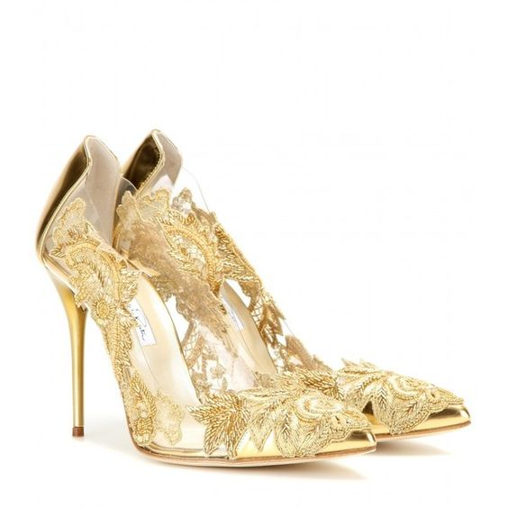 gold lace heels for new years