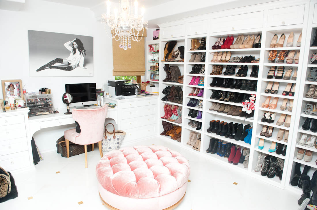 Ashley Tisdale's shoe closet