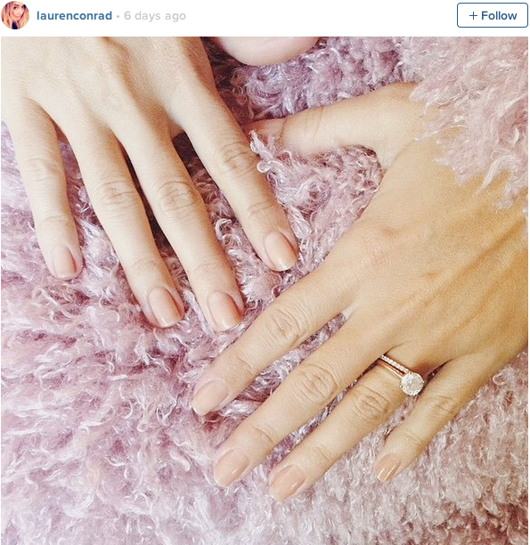 Lauren Conrad's wedding ring
