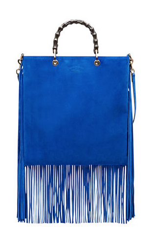 Blue Fringe Handbag