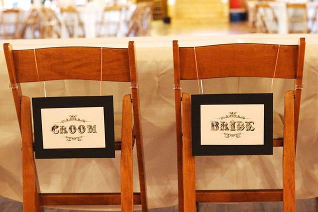 Bride and Groom Seating