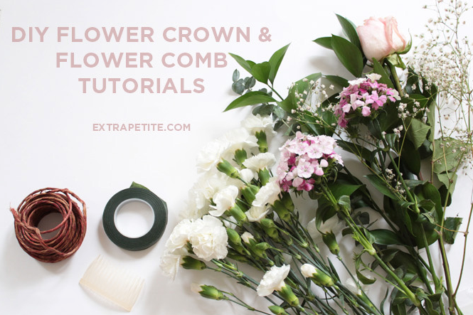 diy flower crown & comb tutorial