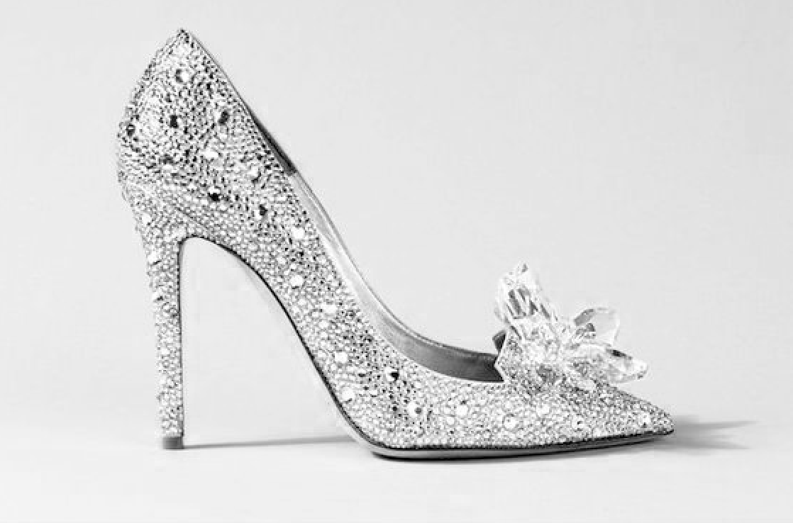 Silver and crystal high heel