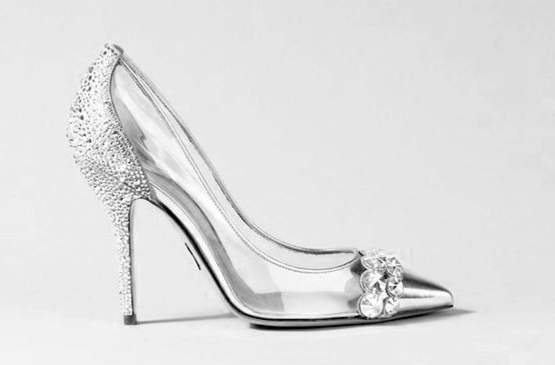 clear and silver new years eve high heel