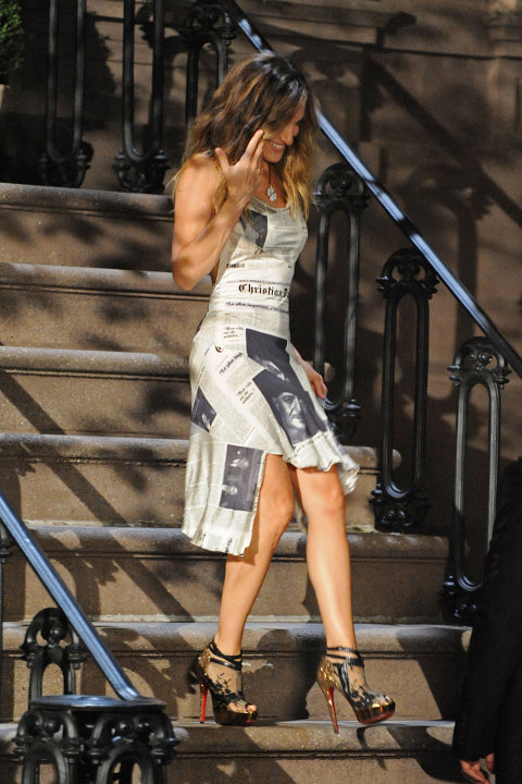 Carrie Bradshaw's black and gold heels