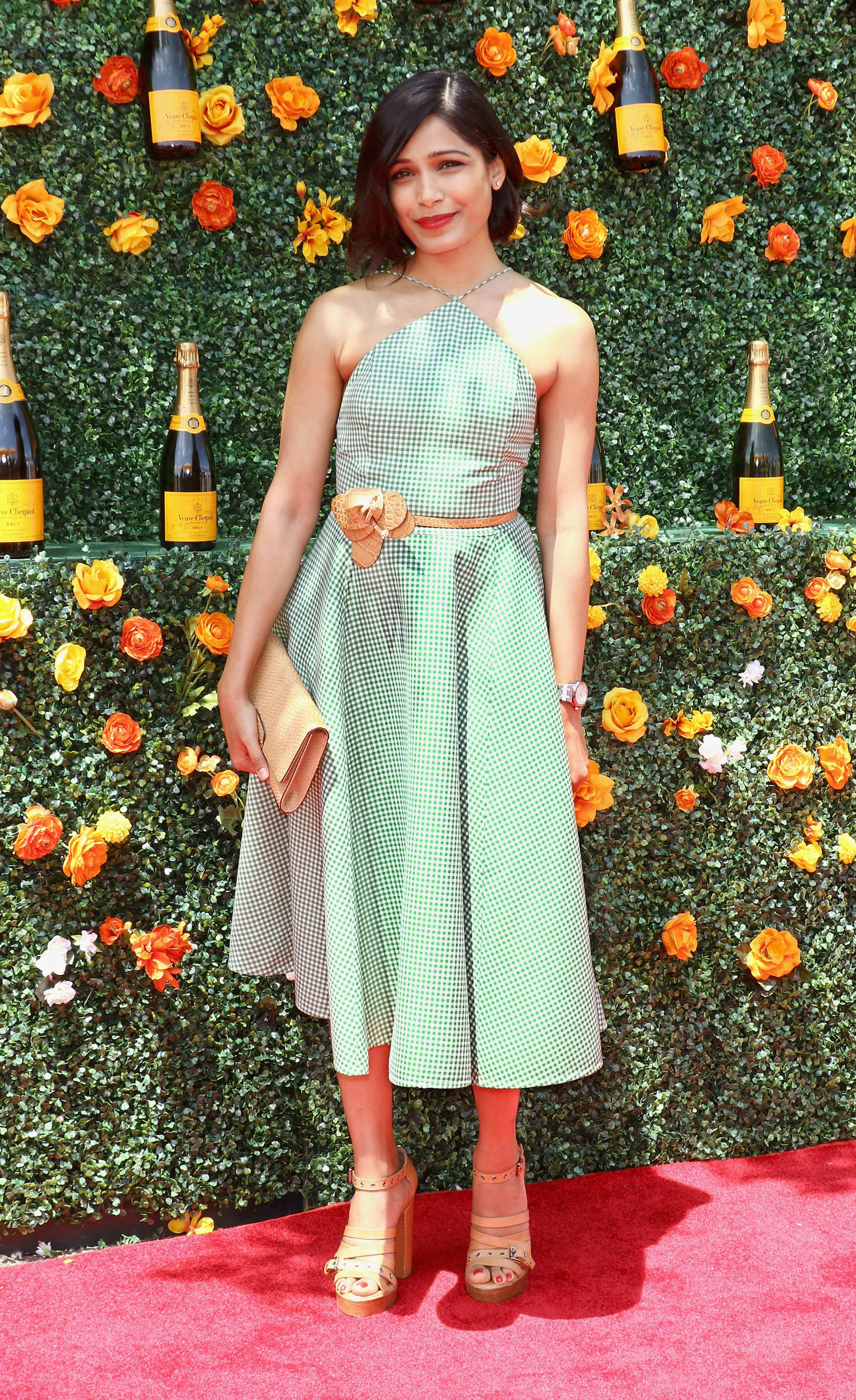 Freida Pinto at Veuve Clicquot Polo Classic