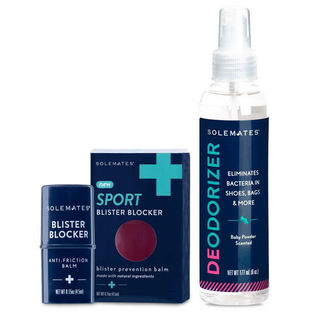 Active Set: All Natural Blister Blocker + #1 anti-bacterial Deodorizer - Solemates
