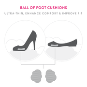 Ball of Foot Cushions 3x  *ENHANCED WITH PEDISOL* - Solemates