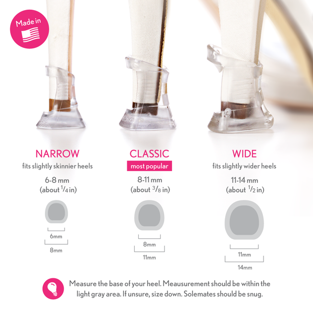 Heel Protectors: (3 sizes - Clear) * BEST SELLER * - Solemates