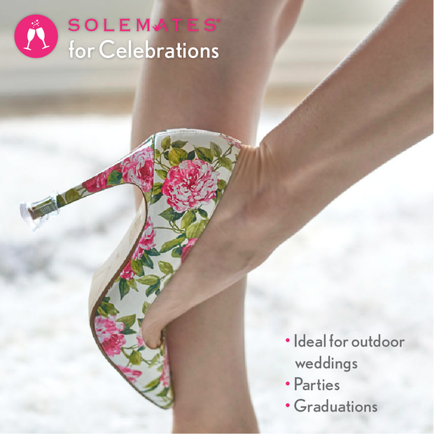 Heel Protectors: 3 Pairs (3 sizes - Silver) - Solemates