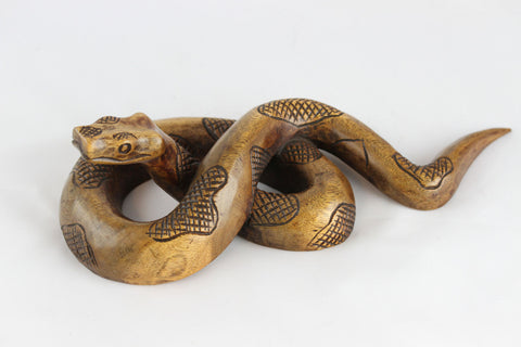 Hand Carved wood snake - Sono Wood snake carving