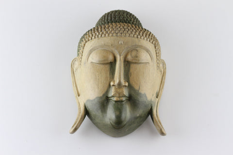 Buddha Face Mask - Carved Hibiscus Wood - QA02BZ-8