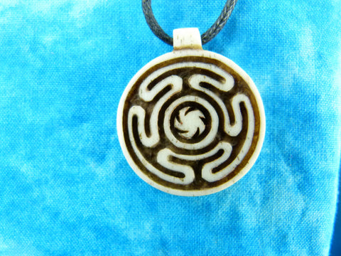 Inner Path Necklace - Carved Bone - X015