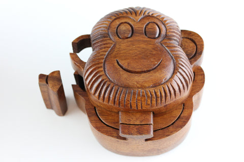 Monkey Puzzle Box - Hand Carved Wooden Box