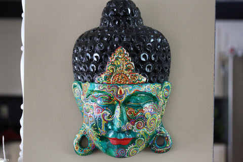 "Only One left - Painted Buddha Head ""Aanarsi"""
