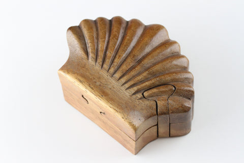 Shell Puzzle Wood Box - Plug Gift Box