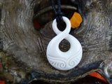 Mother Infinity Necklace - Bone Carving - X016