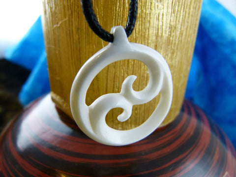The waves of Yin and Yang Necklace - X006