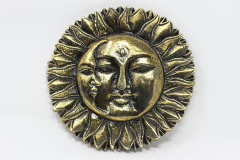 Sun and Moon Wood Wall Hanging