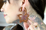Stars of the Sea Wooden Hangers - Hand Carved Plugs (Pair) - A072