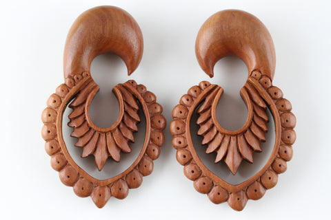 Native Feather Wood Plug Hangers