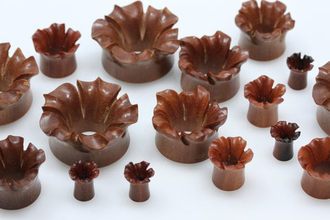 Blooming Flower Tunnel Plugs (Pair) - PA14