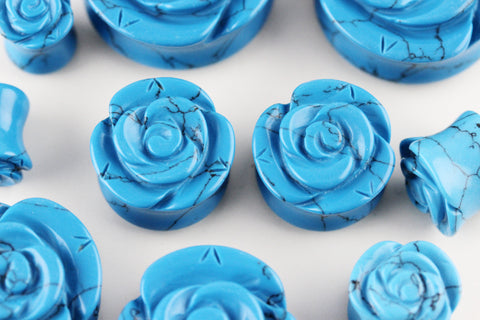 Blue Rose Stone Plugs