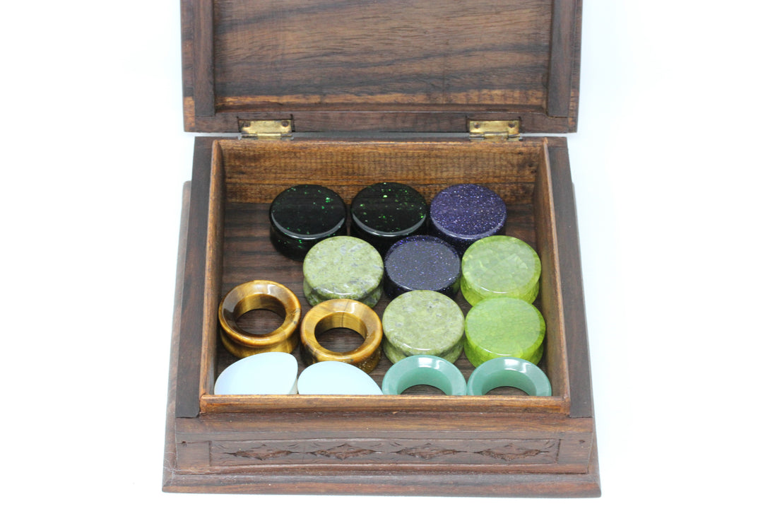 Wooden Plug Box - (Plugs not included)